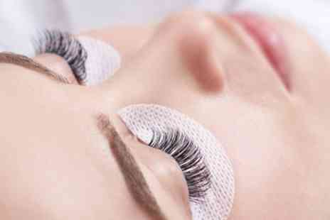 Glam Hair and Beauty - Full Set of Individual Eyelash Extensions - Save 53%