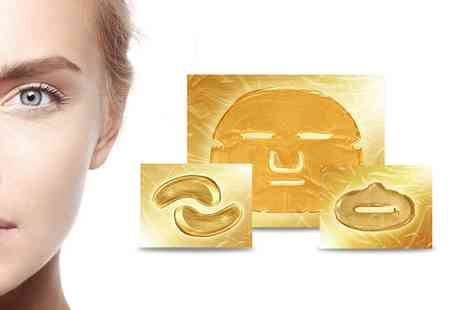 Groupon Goods Global GmbH - Gold Collagen Face, Eye and Lip Masks - Save 0%