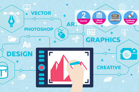 LLive Online Academy - Accredited Photoshop and graphic design course bundle - Save 98%