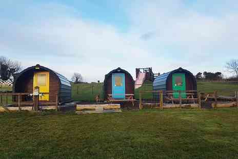 Funny Farm Adventures - One or two night glamping pod stay for four - Save 29%