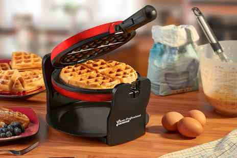 Groupon Goods Global GmbH - Cooks Professional Rotary Waffle Maker in Choice of Colour - Save 0%