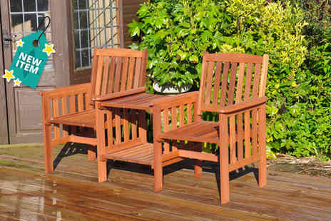 Groundlevel - Two seater hardwood garden love chair - Save 56%