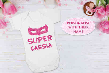 2P Gifts - Personalised babygrow - Save 65%