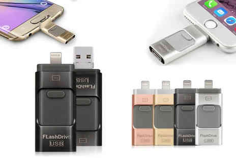 Charles Oscar - iFlash drive for iPhone and iPad choose from five sizes - Save 57%