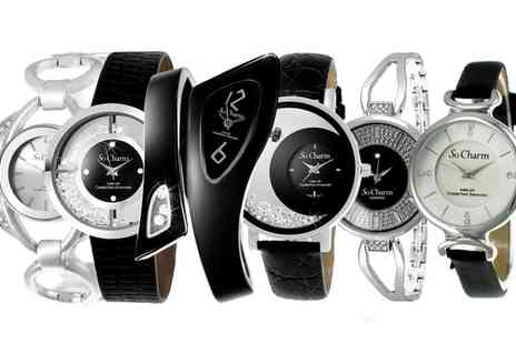 Groupon Goods Global GmbH - So Charm Watches with Diamonds and Crystals from Swarovski - Save 0%