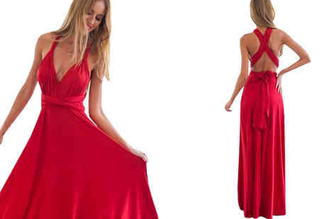 Graboom - Multi Way Maxi Dress Available in Three Colours - Save 55%