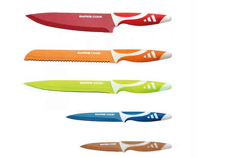 Bright Associate Doctor - Six piece or eight piece colourful kitchen knife set - Save 80%