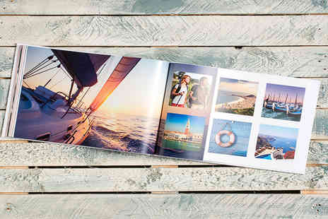 Smiley Hippo - 20, 40 or 60 page landscape photobook with hardback printed cover - Save 77%