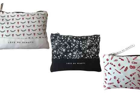 Groupon Goods Global GmbH - Love me Beauty Canvas Cosmetics Bags in a Choice of Design - Save 0%