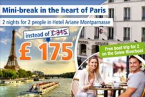 Hotel Ariane Montparnasse - 3 days for 2 people in the heart of Paris - Save 43%