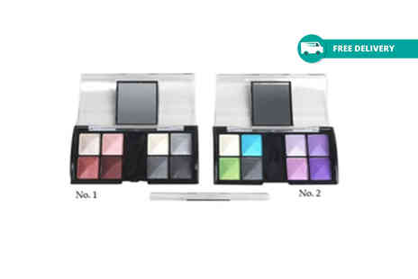 GetGorgeous - Eight colour compact mirror eyeshadow palette with two shade Plus Delivery Included - Save 80%