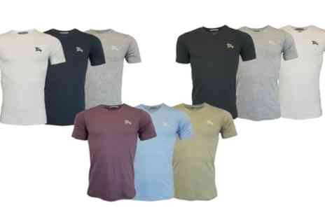 Groupon Goods Global GmbH - Three Pack of Tokyo Laundry Mens Tshirts in Choice of Design - Save 0%