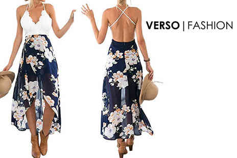 Verso Fashion - Floral print midi dress - Save 70%