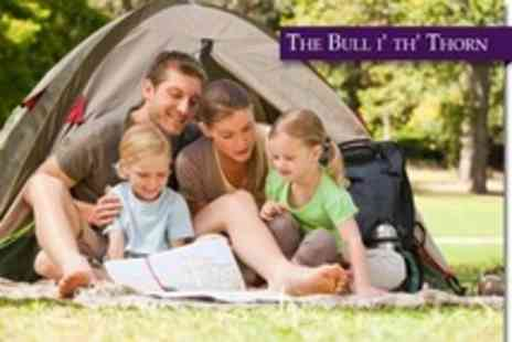 The Bull i th Thorn - In Peak District Three Night Camping Stay For Two People - Save 67%