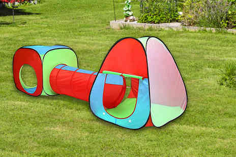 Inside Out Toys - Kids pop up play tent with tunnel have fun in the sun this summer - Save 58%