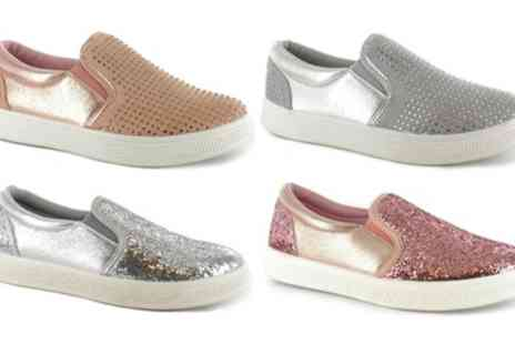 Groupon Goods Global GmbH - Womens Dina or Kiri Plimsoll Shoes - Save 0%