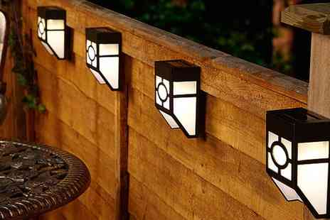 Groupon Goods Global GmbH - Up to Ten Solar Solar Fence Lights - Save 0%