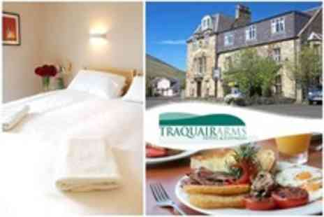 Traquair Arms Hotel - In Scottish Borders Two Night Break For Two With Breakfast - Save 67%