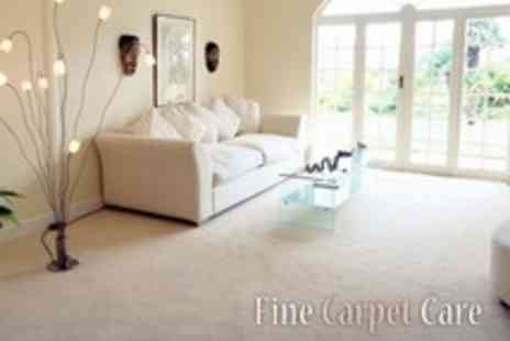 Fine Carpet Care - Carpet Cleaning For Two Rooms Plus Hall and Stairs - Save 77%
