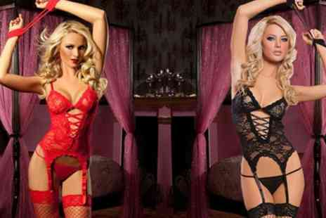Groupon Goods Global GmbH - Four Piece Lace Lingerie Set - Save 0%