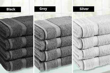 Groundlevel - Four super soft Egyptian cotton bath sheets choose from 11 colours - Save 63%