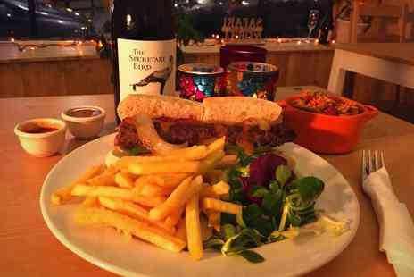 Safari Cafe Bar - Two course dining for two or four people with a glass of wine, beer or cider each - Save 67%