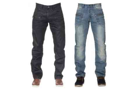 Groupon Goods Global GmbH - Enzo Mens Straight Leg Jeans - Save 33%