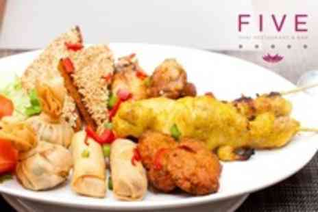Five Thai - Three Courses of Gourmet Thai Cuisine For Two With Bellini Cocktails - Save 60%