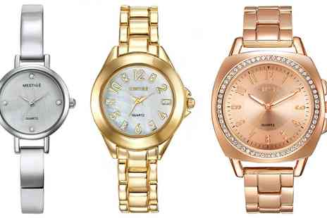 Neverland Sales - Womens Mestige Metal Watch with Crystals from Swarovski With Free Delivery - Save 0%