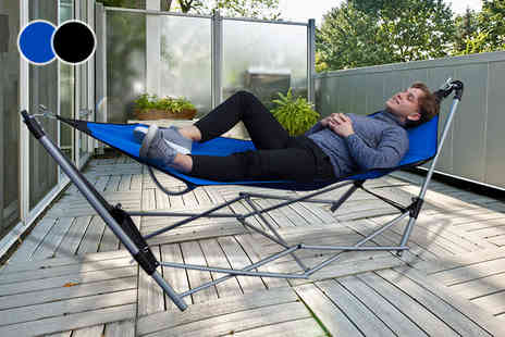 Vida XL - Folding hammock choose from two colours - Save 62%