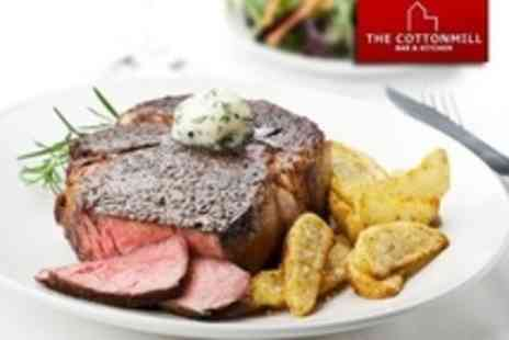 The Cotton Mill - Steak Dinner For Four With Wine and Dessert - Save 60%