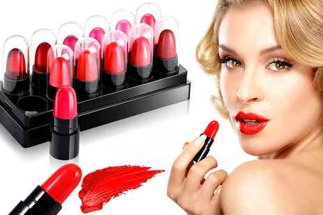 Groupon Goods Global GmbH - Up to Four 12 Piece Mini Long Lasting Lipstick Sets - Save 0%
