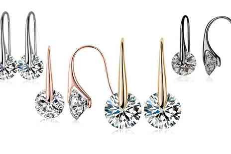 Neverland Sales - One or Two Pairs of Mestige Eclipse Earrings with Crystals from Swarovski With Free Delivery - Save 0%