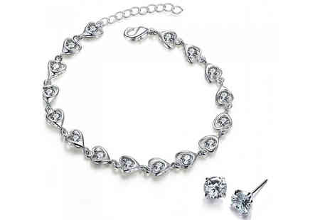 Romatco - 2 Piece Crystal Jewellery Set - Save 85%