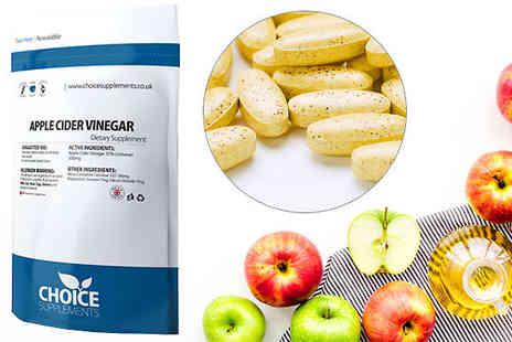 Choice supplements - 4 Month Supply of Apple Cider Vinegar Capsules - Save 77%