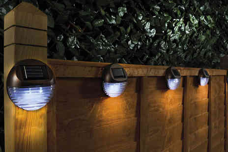 Groundlevel - Pack of two, four or six solar fence lights - Save 61%
