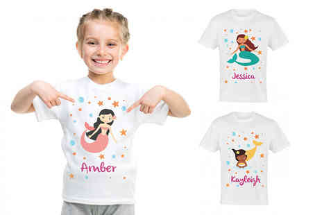 2P Gifts - Kids personalised t shirt - Save 65%