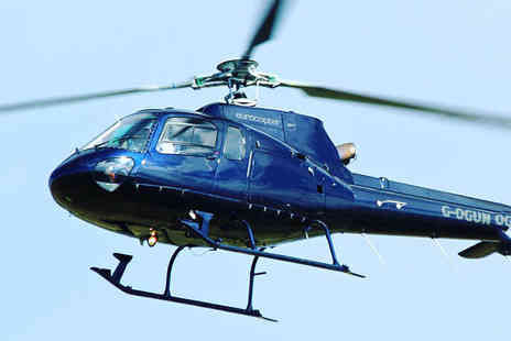 Helicentre - Eight mile helicopter buzz flight with a choice of drink - Save 42%