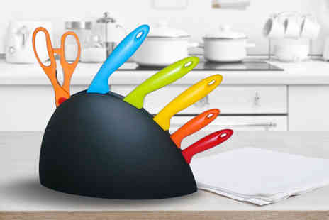 Bright Associate Doctor - Six piece knife set with stand - Save 80%