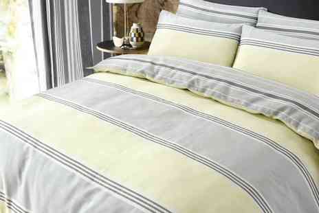 Groupon Goods Global GmbH - Pieridae Banded Stripe Duvet Cover Set in Choice of Colour - Save 0%