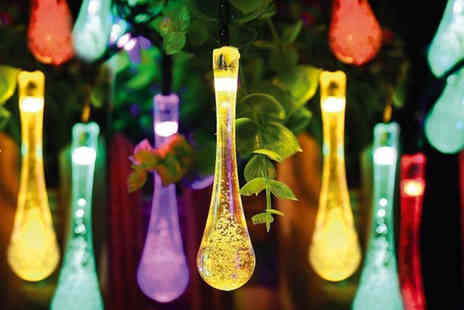 Zoozio - String of 20 LED raindrop fairy lights - Save 68%