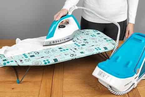Groupon Goods Global GmbH - 76 x 33cm Beldray LA023735SEW Table Top Ironing Board with a Sewing Print - Save 0%