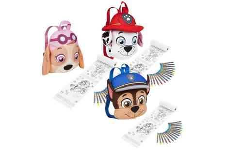 Groupon Goods Global GmbH - Paw Patrol Plush Backpack with Colouring Set with Chase, Skye or Marshall - Save 0%