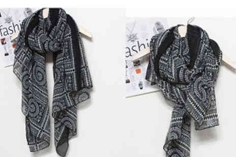 Affinity International - Lightweight Printed Scarf Choose 4 Colours - Save 73%