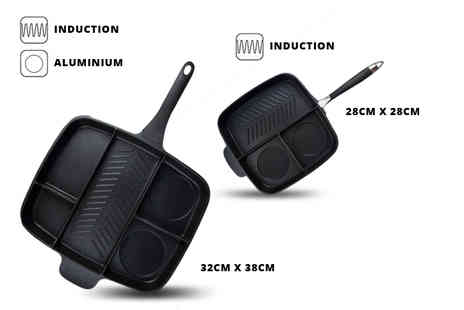 Craze UK - 3 in 1 MasterPan frying pan or 5 in 1 pan or 5 in 1 pan with an induction base - Save 79%