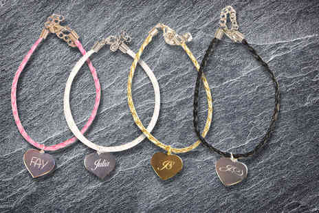 Your Perfect Canvas - Personalised engraved heart bracelet - Save 84%