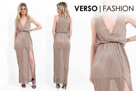 Verso Fashion - Pleated maxi dress - Save 60%