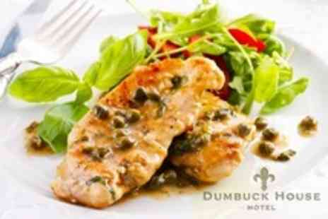 Dumbuck House Hotel - Two-Course British Meal For Two With Wine - Save 63%