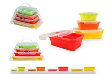 Groupon Goods Global GmbH - Set of Six or Eight Jocca Foldable Silicone Containers - Save 0%