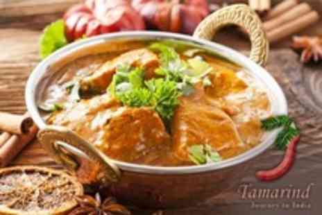Tamarind - Two Course Indian Meal For Two With Side Dish Each - Save 55%